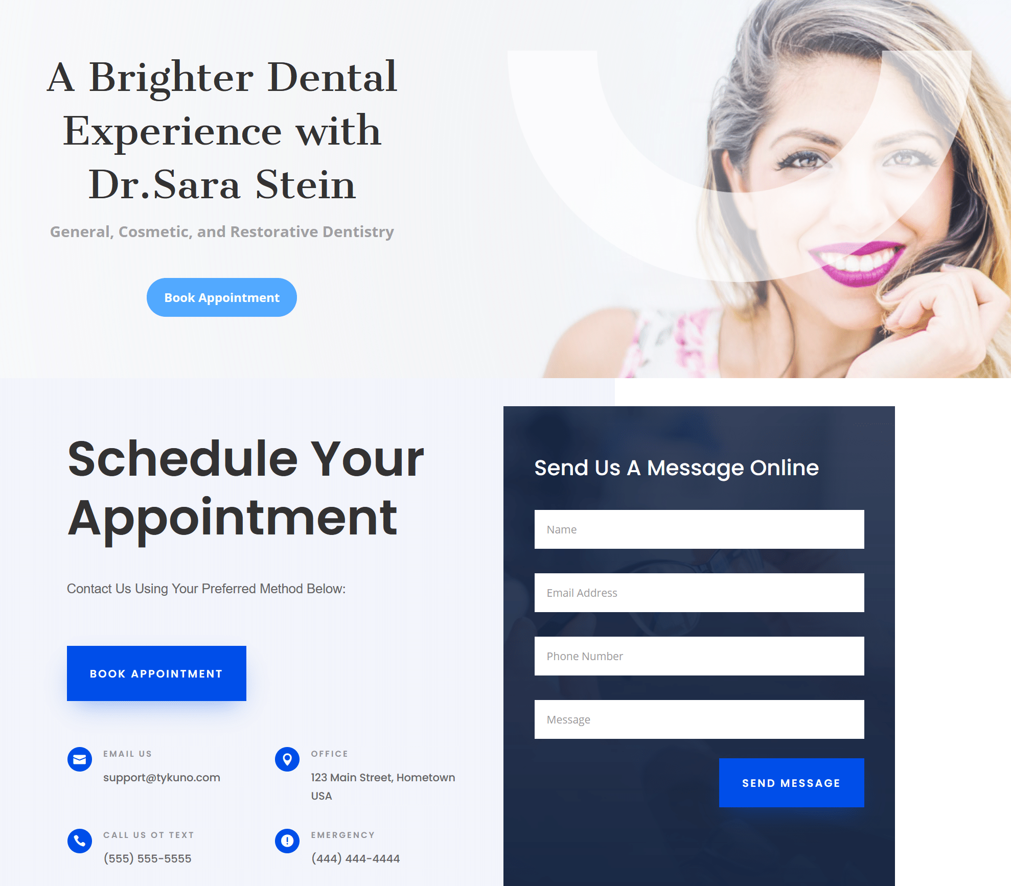 tykuno dentistry advertising page